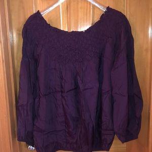Rayon Maroon blouse